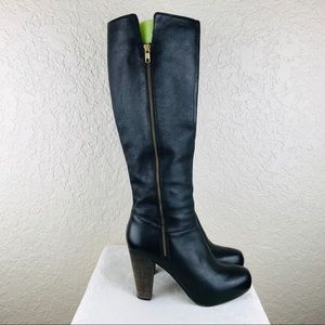 Steve Madden Rikki leather black boot side zip